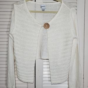 Chicos off white sweater size 1